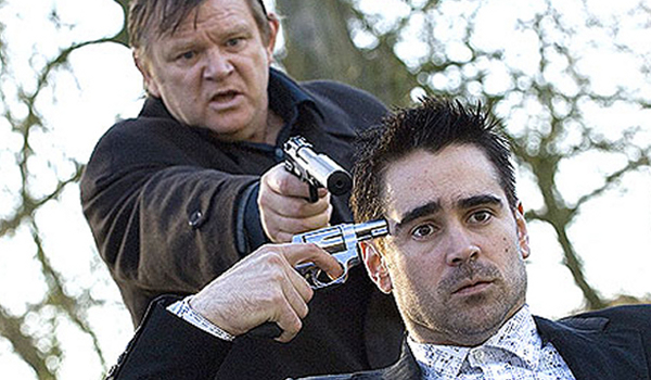 Colin Farell and Brendan Gleeson in a still from In Bruges
