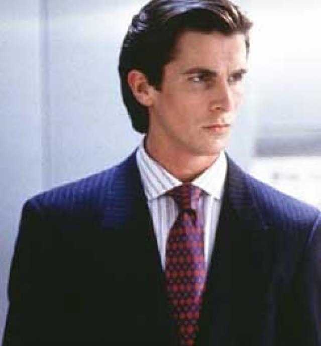 Christian Bale as a bad boy who is stylish
