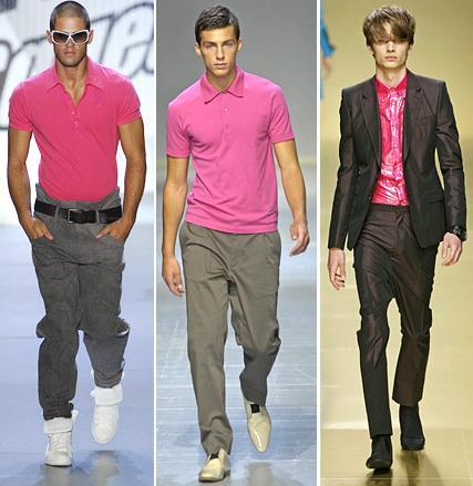 Men wear pink, pink color, fashion, power, surity, symbol