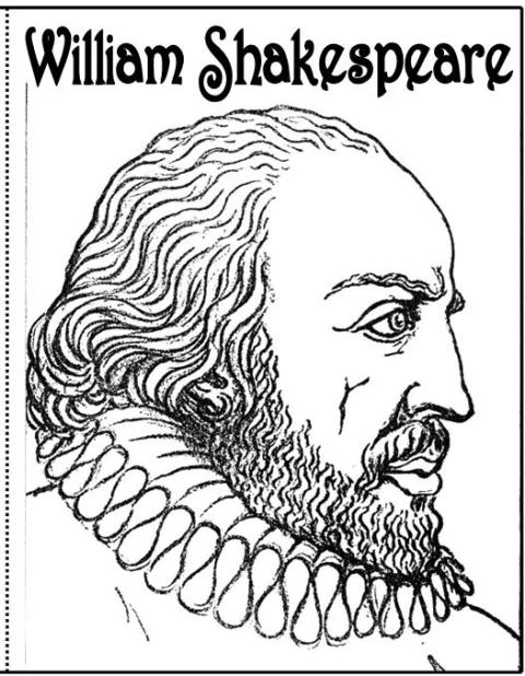 coloring pages shakespeare - photo#11