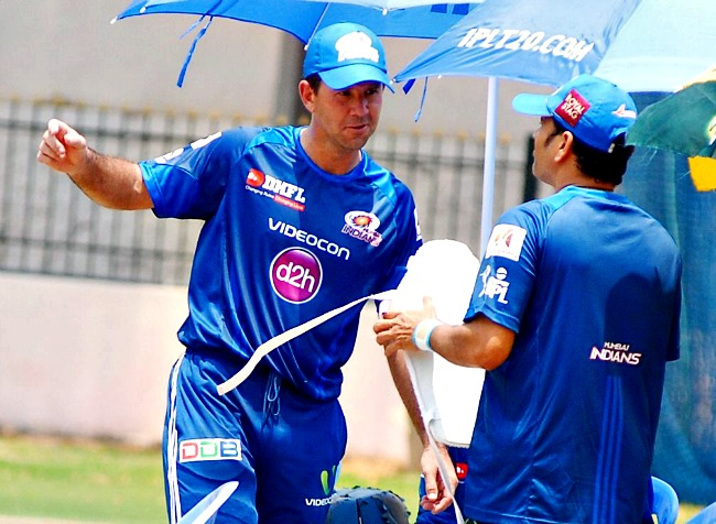 Tendulkar and Ponting Train Together