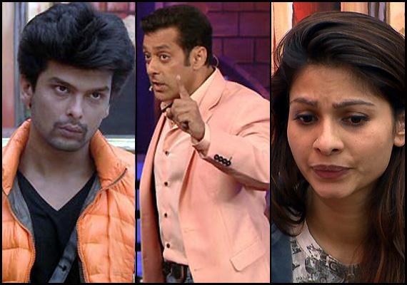 Salman Khan, Gauhar, Tanisha, Kushal