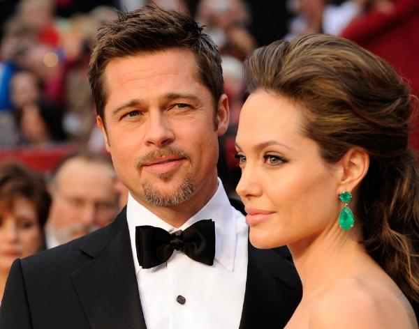 Stylish brad pitt and angelina together