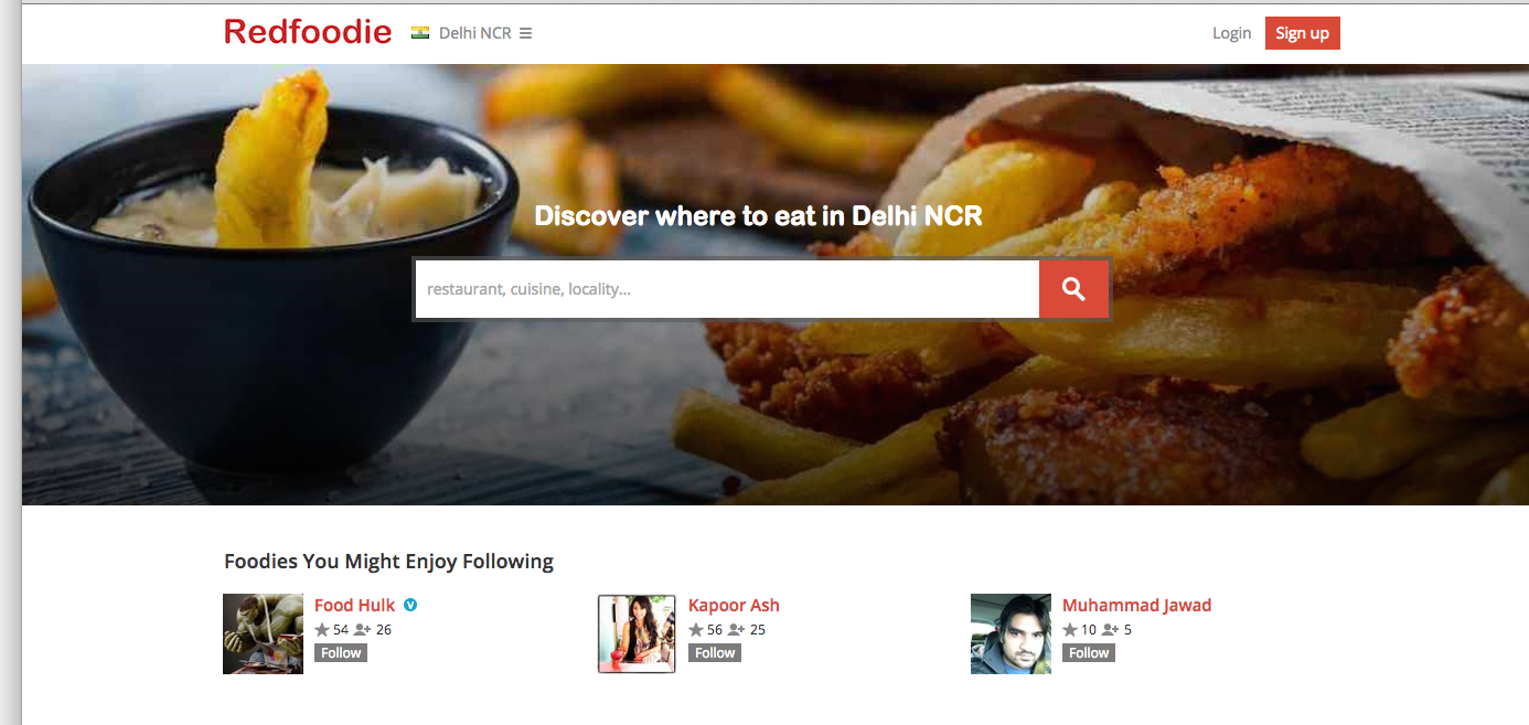 Redfoodie – Satiating your 'Foodie' Search