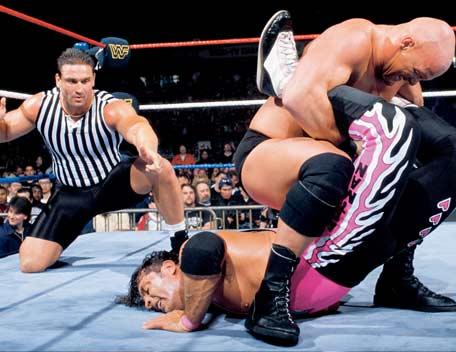 bret hart vs steve austin wrestlemania