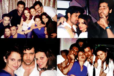 The Hrithik Roshan, Kangana Ranaut and Suzanne Roshan party pics raise doubts whether Kangana Ranaut has Been Lying All Along about her affair with Hrithik Roshan