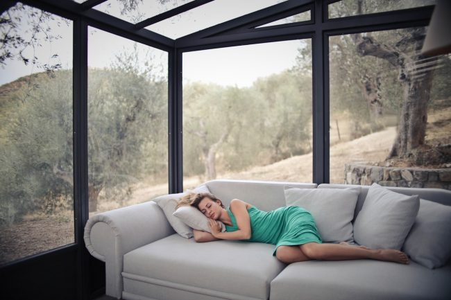 picture of a beautiful woman sleeping