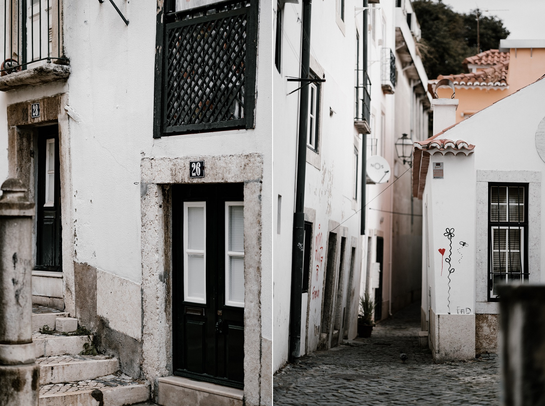 A quiet and beautiful neighborhood in Lisbon, Portugal