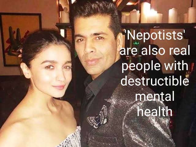 Karan Johar and Alia Bhatt battling charges of nepotism and SSR's suicide