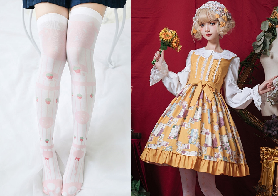 White Cotton Milk Socks and Lolita Fashion: Dressed to Kill