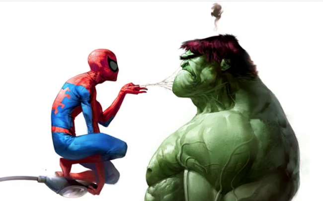 Who is more powerful between Spider-man and Hulk