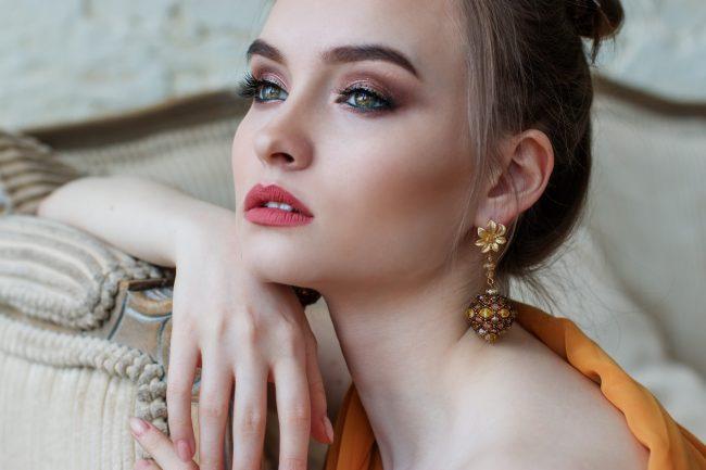 beautiful skin of a girl