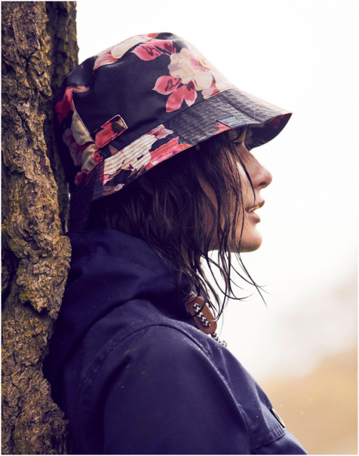 Rain tips with a girl in a hat